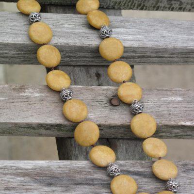 Yellow Jasper & Silver