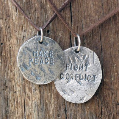 Fight Conflict Dog Tags